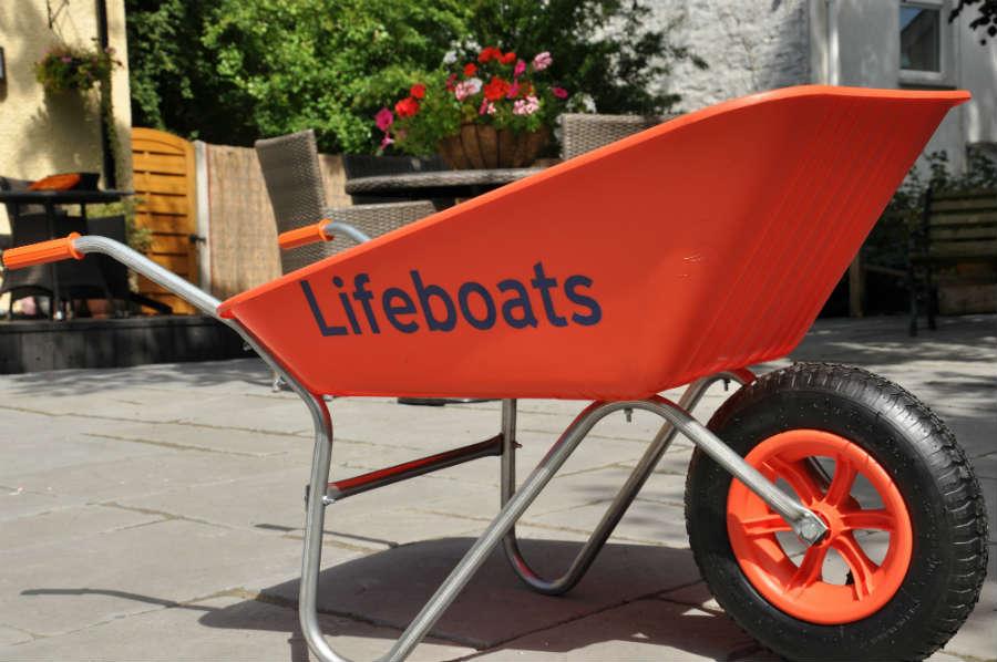 Lifeboats wheelbarrow