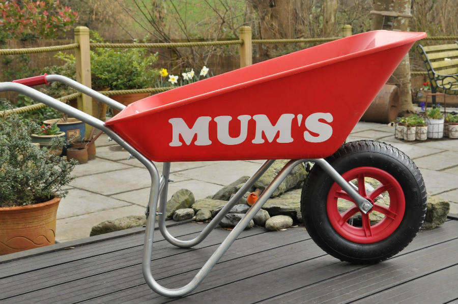 Mums wheelbarrow