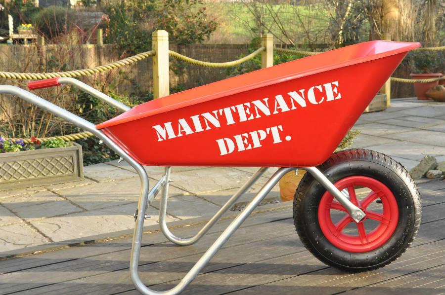 maintenance dept wheelbarrow